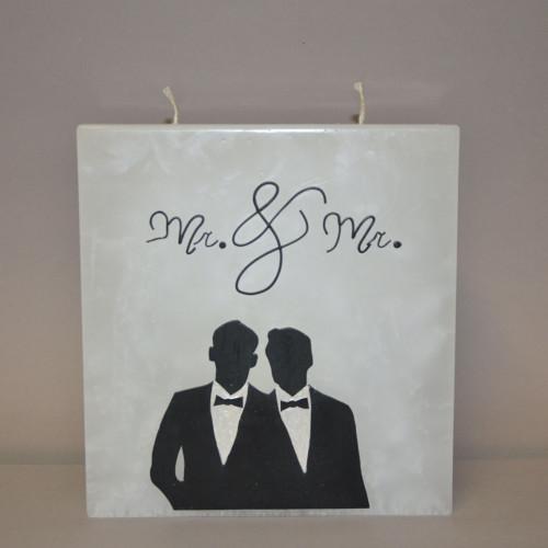Rechteckige Hochzeitskerze...